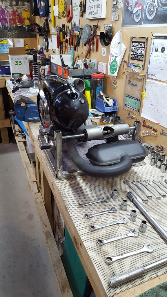 vespa engine stand southern scoot